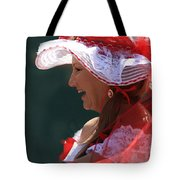 Red Ribbon Bow Tote Bag