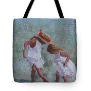 Red Ribbon Tote Bag