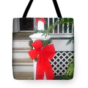Red Ribbon On Steps Tote Bag