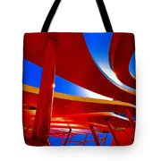 Red Ride Blue Sky Tote Bag