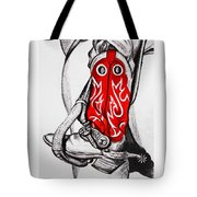 Red Riding Boots Tote Bag