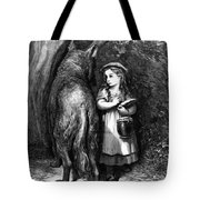 Red Riding Hood Meets Old Father Wolf Tote Bag