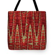 Red Ripe Pomagranite Abstract Tote Bag