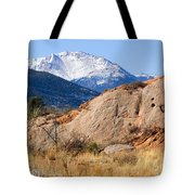 Red Rock And Pikes Peak Tote Bag