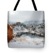 Red Rock Canyon In Winter 2 Tote Bag