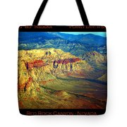 Red Rock Canyon Poster Print Tote Bag