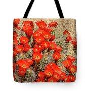 Red Rock Flowers Tote Bag