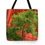 Red Rock Green Tree Tote Bag