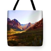 Red Rock Rays Tote Bag