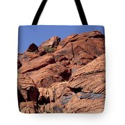 Red Rock Texture Tote Bag