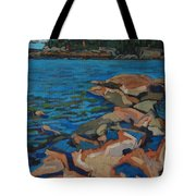 Red Rocks And Pooled Water Tote Bag