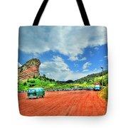 Red Rocks Hippie Van Tote Bag