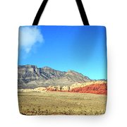 Red Rocks Nevada Panorama Tote Bag