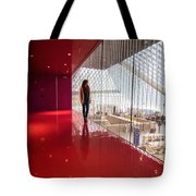 Red Room Views At The Seattle Central Library Tote Bag