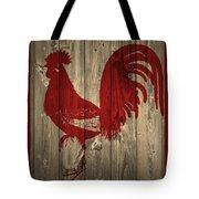 Red Rooster Barn Door Tote Bag