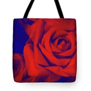 Red, Rose And Blue Tote Bag