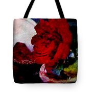 Red Rose And The Mirror Tote Bag