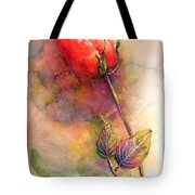 Red Rose From The Past Tote Bag