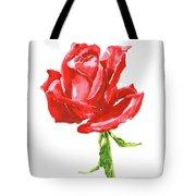 Red Rose Watercolor Painting Tote Bag