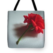 Red Rose Plucked Tote Bag