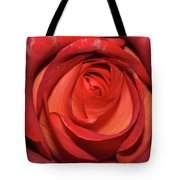 Red Rose Up Close Tote Bag