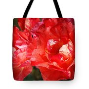 Red Rose With A Whisper Of Yellow  Tote Bag