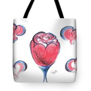 Red Rose- With Love  Tote Bag