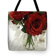 Red Roses And Glass Still Life 042216 1a Tote Bag