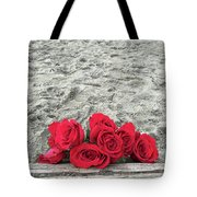 Red Roses Beachside Tote Bag