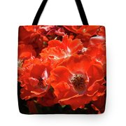 Red Roses Botanical Landscape 1 Red Rose Giclee Prints Baslee Troutman Tote Bag