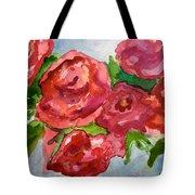 Red Roses, Red Roses Tote Bag