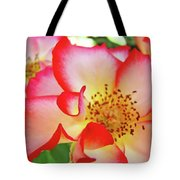 Red Roses White Yellow Rose Flower Floral Art Print Baslee Troutman Tote Bag