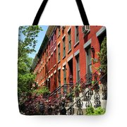 Red Row Houses Tote Bag