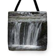 Red Run Waterfall Tote Bag