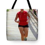 Red Runner Tote Bag