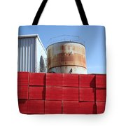 Red Rust And Blue Tote Bag