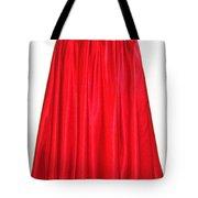 Red Satin Mid-calf Skirt. Ameynra Simple Line 2013 Tote Bag
