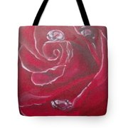 Red Tote Bag by Saundra Johnson