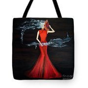 Scented Red Color Tote Bag
