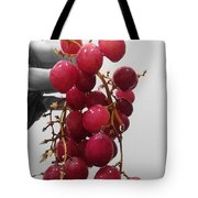 Red Seedless Grape Cluster Tote Bag