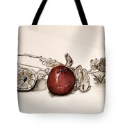 Red Sexy Plum. Tote Bag