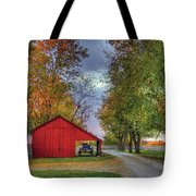 Red Shaker Carriage Barn Tote Bag