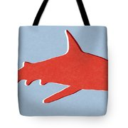Red Shark Tote Bag
