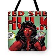 Red She-hulk Tote Bag
