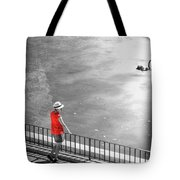 Red Shirt, Black Swanla Seu, Palma De Tote Bag