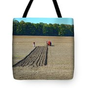 Red Shirt Red Tractor Two  Tote Bag