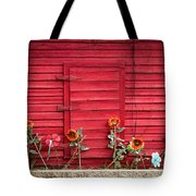 Red Sided Wall Tote Bag