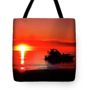 Red Silhouette Tote Bag