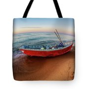 Red Skiff Tote Bag