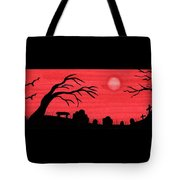 Red Sky Cemetery Tote Bag